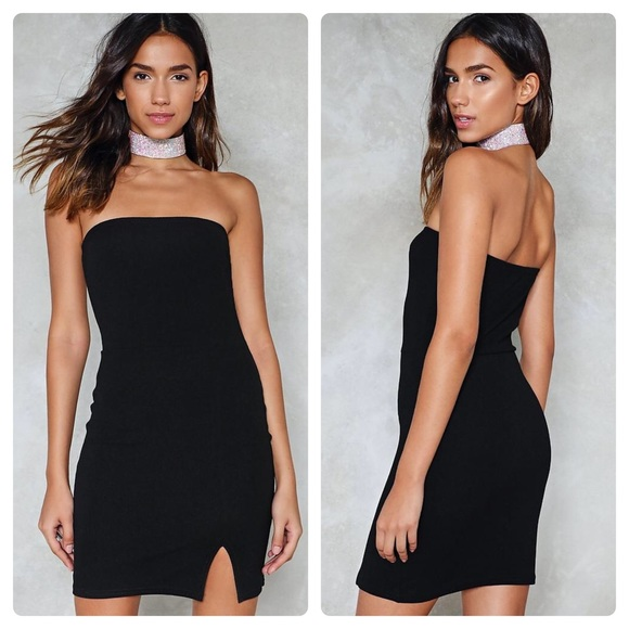 ff5b62e1a886 Nasty Gal Dresses   Tighten Up Bodycon Dress Black Strapless   Poshmark